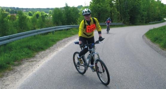 Ania Skuras reprezentująca Grupę Intel; mieliśmy okazję wspólnie pokonać większą część 120-km trasy