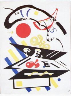 """Wassily Kandinsky - to od niego wszystko się zaczęło. Na zdjęciu: """"Kompozycja barwna"""" 1935 r."""