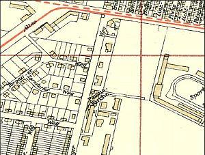 Kościół św. Pawła na planie Wrzeszcza z 1940 roku.