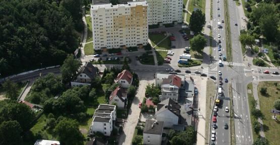 Widok z góry na ul. Morską