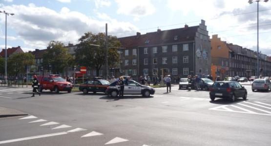 Wypadek na skrzyżowaniu ul. Legionów i ul. Kościuszki