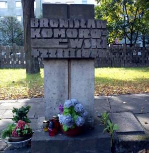 Grób Bronisława Komorowskiego na Cmentarzu Ofiar Hitleryzmu na Zaspie.
