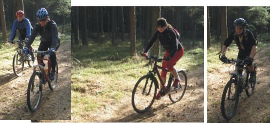 droga powrotna również przez lasy Puszczy Darżlubskiej