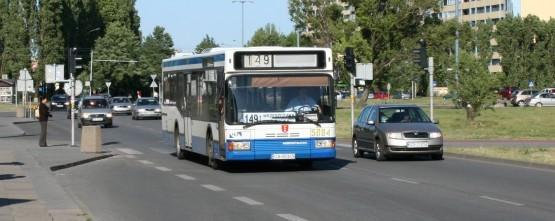 Gdańską linię 149 od kilku dni obsługują autobusy w gdyńskim malowaniu.