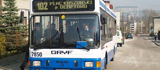 Z trasy linii 102 roztarcza się malowniczy widok na śródmieście Gdyni.