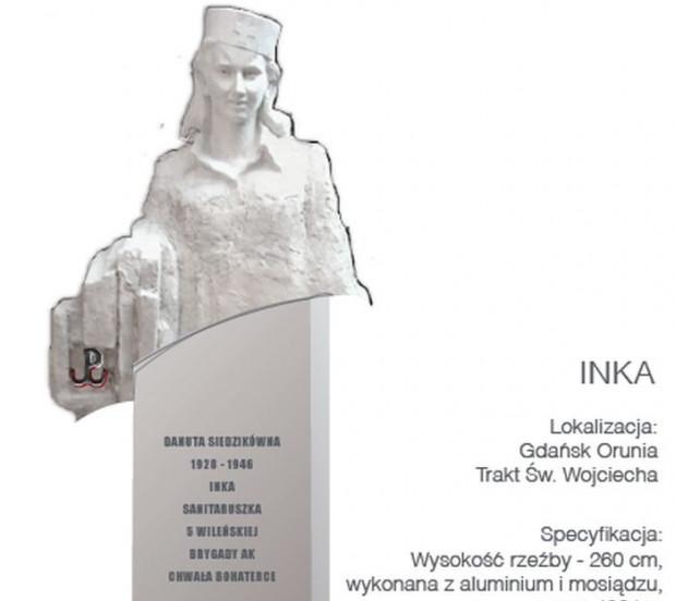 Poprawiona wersja pomnika, w której cokół zastąpił długą szatę. Ta propozycja ma być zaprezentowana gdańskim radnym już wkrótce.