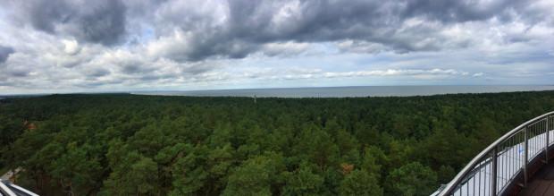 Widok z wieży ciśnień w kierunku zachodnim.