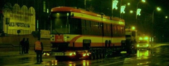 Bombardier zjechał na gdańskie tory w nocy z niedzieli na poniedziałek.