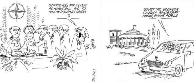 Jujka ma w dorobku ponad 10 tys. rysunków satyrycznych, które często celnie komentują rzeczywistość.