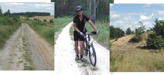 Najgorsza z przepraw na szlaku to pchanie rowerów przez grząskie piaski Gór Łosiowych