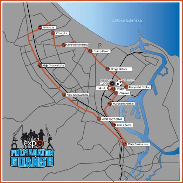 Trasa AmberExpo Półmaraton Gdańsk