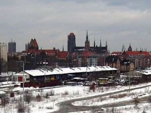Tak obecnie wygląda miejsce, gdzie działał pierwszy dworzec kolejowy w Gdańsku.