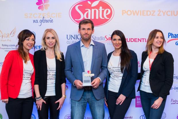 """Gościem honorowym festiwalu """"Szczęście na głowie"""" był Mateusz Kusznierewicz."""