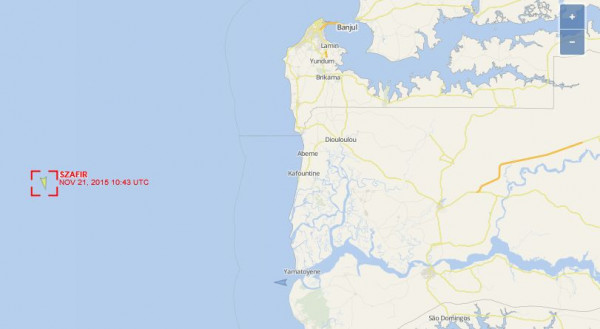 """""""Szafir"""" pływa na linii żeglugowej obsługującej połączenie portów europejskich i zachodnioafrykańskich."""