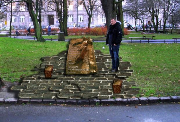 Tak ma wyglądać pomnik poświęcony ofiarom stanu wojennego, który być może już za rok stanie w miejscu, gdzie kula dosięgnęła Antoniego Browarczyka.