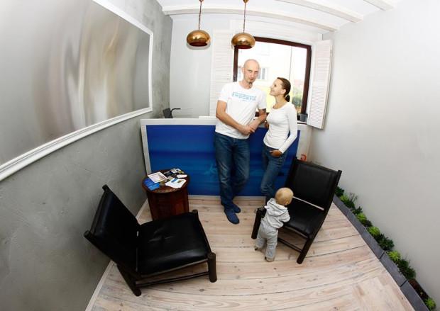 Paweł Gutral, Edyta Kowalska i ich synek - właściciele Endorfia Floating.