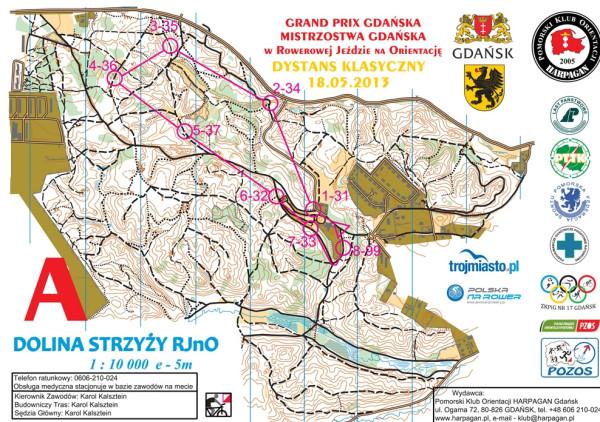Mapa sportowa dla RJnO