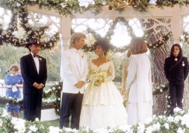 Elizabeth Taylor i Larry Fortensky.