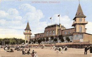 Hala Plażowa w Brzeźnie na początku XX wieku.