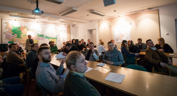 Na dyskusji publicznej licznie stawili się mieszkańcy Kamienic nad Motławą.