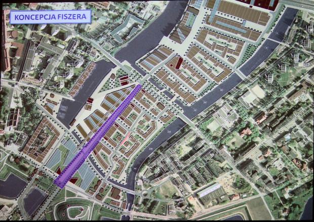 Koncepcja Stanisława Fiszera, na bazie której przygotowany został projekt planu.