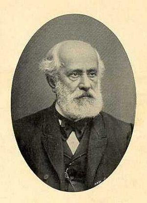 Portret Georga Abegga (1826-1900), Honorowego Obywatela Miasta Gdańska, wieloletniego prezesa Fundacji.