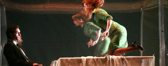 Mariusz Zaniewski (Klaudiusz) i Ewa Skibińska (Gertruda)