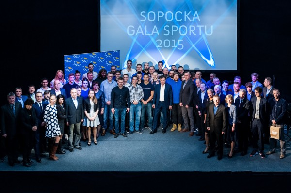 Najlepsi w sopockim sporcie w 2015 roku. Nie wszyscy wyróżnieni mogli osobiście odebrać nagrody, gdyż już przygotowują się do najważniejszych startów bieżącego sezonu m.in. w RPA i USA.