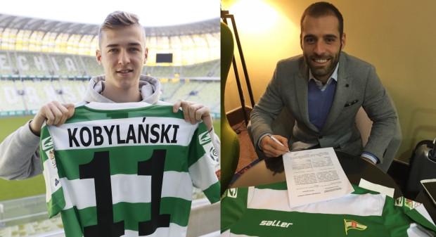 Nowi piłkarze Lechii Gdańsk: Flavio Paixao i Martin Kobylański.