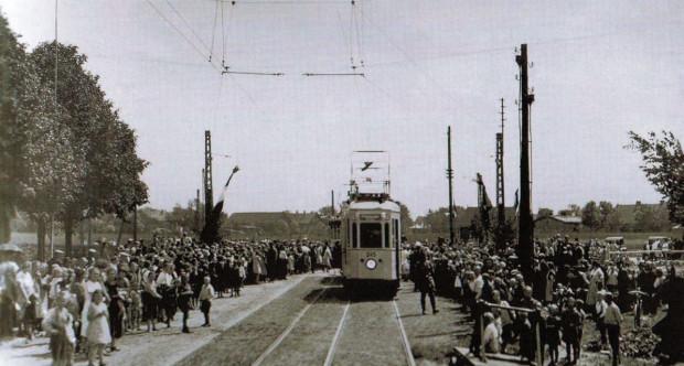 Uroczyste otwarcie trasy tramwajowej na Stogi.