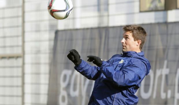 Gaston Sangoy na treningu Arki Gdynia.