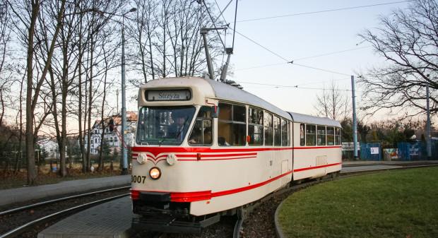 Konstal 102Na sprowadzony do Gdańska z Wrocławia i przemalowany na wzór z przełomu lat 60.