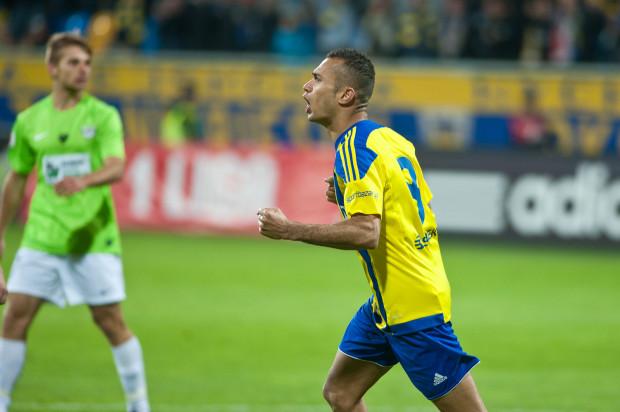 W październiku Arka podejmowała Rozwój Katowice, który obecnie ma najmniejszą liczbą punktów w I lidze. Wygrała 4:0, a Marcus zaliczył hat-tricka.