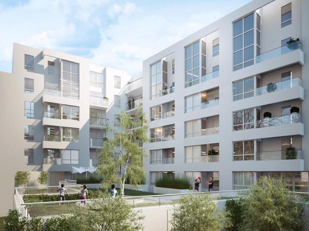 W inwestycji Centrum od podwórka, na wysokości pierwszego piętra zaplanowane zostało wewnętrzne patio do dyspozycji mieszkańców.