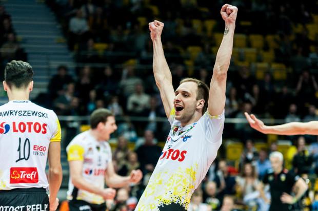 MVP meczu z BBTS został wybrany przyjmujący Lotosu Trefla Miłosz Hebda.