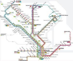 Schemat funkcjonowania linii tramwajowych podczas remontów.