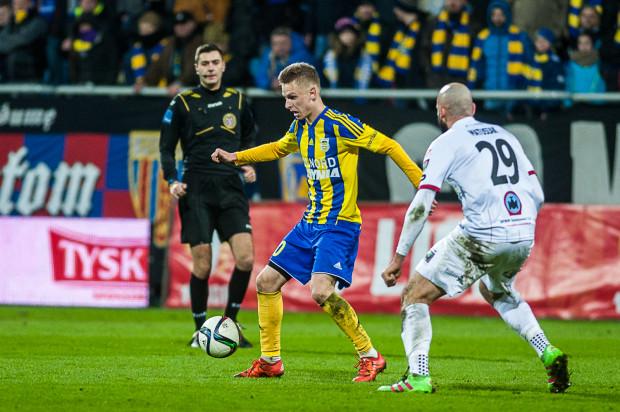 Mateusz Szwoch w czterech wiosennych meczach w Arce zaliczył trzy asysty, a w spotkaniu z Pogonią Siedlce obiecuje gola.