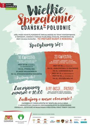 Plakat promujący akcję sprzątania.