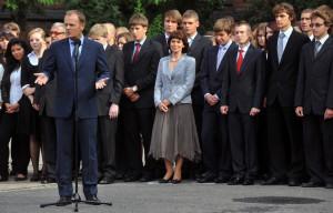 Donald Tusk na inauguracji roku szkolnego w gdańskiej Jedynce.