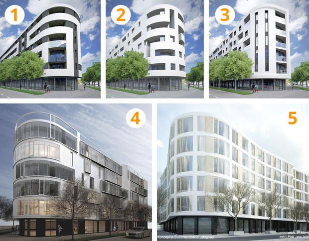 Pięć koncepcji wyglądu elewacji budynku Awanport, który powstanie w centrum Gdyni. Inwestor liczy, że czytelnicy Trojmiasto.pl podpowiedzą mu, którą z nich wybrać. Poniżej prezentujemy każdą z nich osobno, w wyższej rozdzielczości.