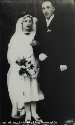 Rodzice Jana - Bronisława i Jan - wzięli ślub w Kielnie w 1922 r.