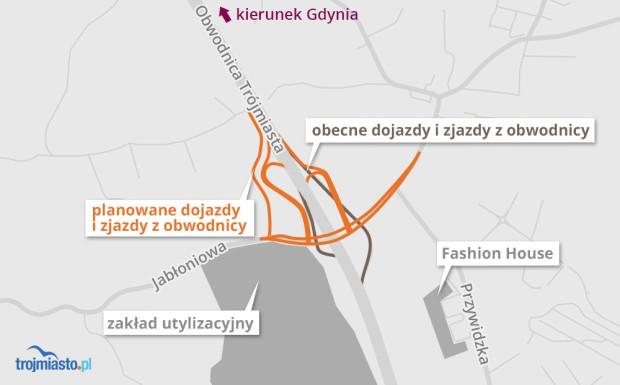 Plan przebudowy Węzła Szadółki.