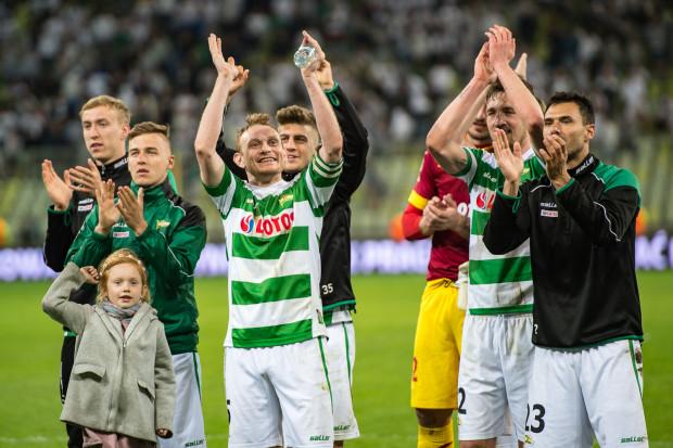 Piłkarze Lechii Gdańsk po zwycięstwie nad Legią Warszawa