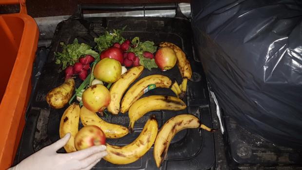 Najczęściej trafiałyśmy na warzywa i owoce. Niemal w każdym śmietniku były banany.