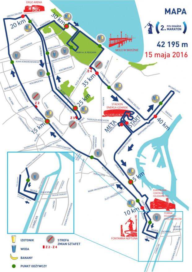 2. PZU Gdańsk Maraton - trasa