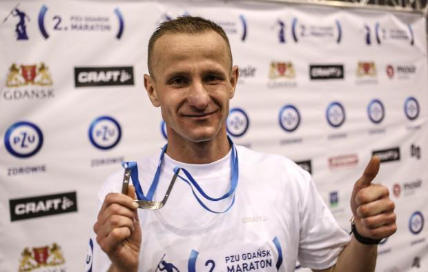 Najszybszy zawodnik 2. PZU Gdańsk Maraton - Paweł Piotraschke ze Słupska.