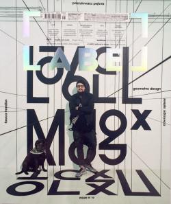 Oskar Podolski i jego labradorka Fela na okładce magazynu Label.