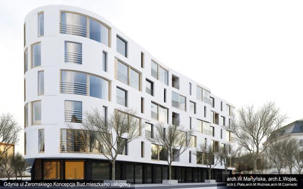Tak ostatecznie będzie wyglądał budynek Awanportu, który powstanie wzdłuż ul. Żeromskiego, Świętego Wojciecha i Waszyngtona.
