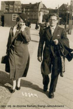 Jan Bianga i Elżbieta Colbe w Gdańsku. Lata 30. XX wieku.