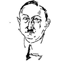 """Artur Raube czyli """"Grabarz Oliwy"""". Podobizna zamieszczona 1 lipca 1926 r. w Danziger Volksstimme."""